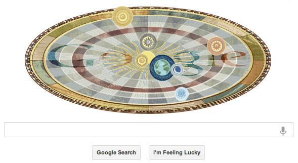 Google doodle Nicolaus Copernicus